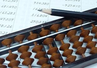 珠算(そろばん)のイメージ